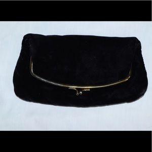 Vintage Velvet clutch Purse With change Purse